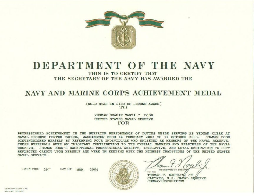 usmc certificate of commendation template - navy girl 39 s brag sheet